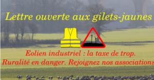 gilets jaunes éolien industriel